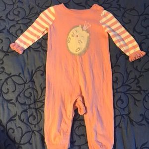 Baby Gap pink hedgehog sweater romper one piece